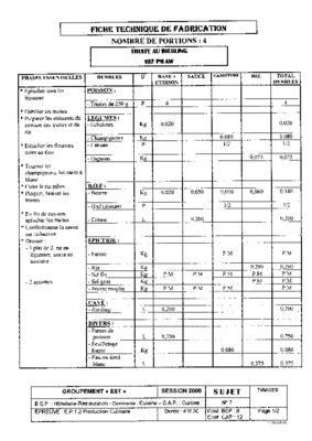 fiche technique cuisine pdf technique de fabrication ancien par pdf notice manuel d 39 utilisation