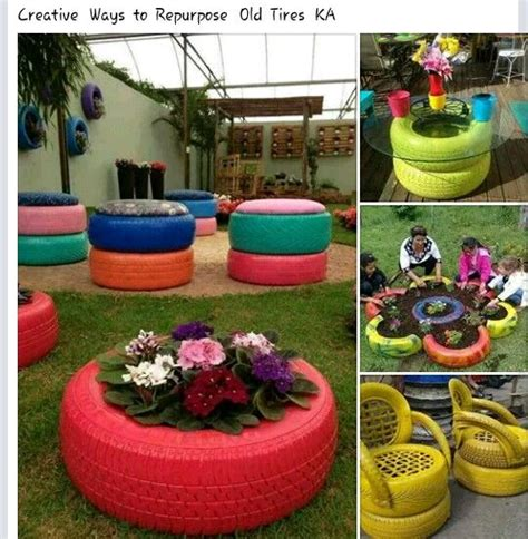 Used Garden Decoration by How To Use Tyres For Decor Pam S Ideas For The House