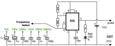 Square Wave Generator Using Timer Electronic
