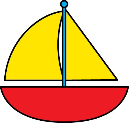 Simple Boat Clipart by Sailing Boat Clipart Small Boat Pencil And In Color