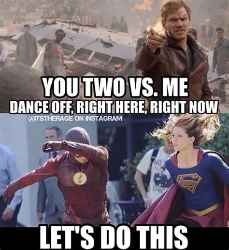 Supergirl Memes - yo team flash supergirl over here i mean we all saw those mad tap dancing skills on that