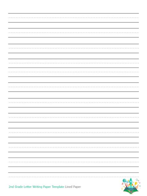 grade writing paper printable printableecom