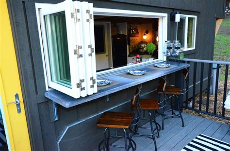 Tiny Home Bar by Tiny House On Wheels With Indoor Outdoor Entertaining