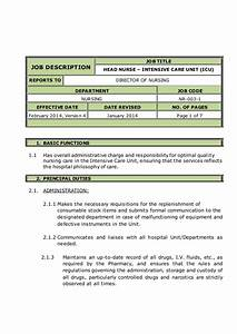 Head Nurse Intensive Care Unit  Icu  Job Description