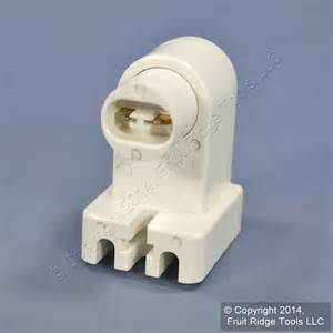 leviton white ho vho t8 t12 fluorescent l holder light