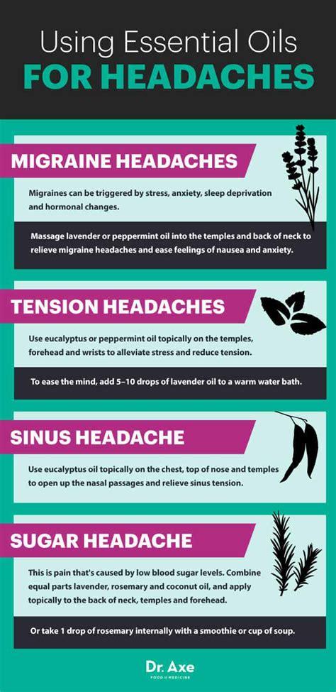 top  essential oils  headaches dr axe