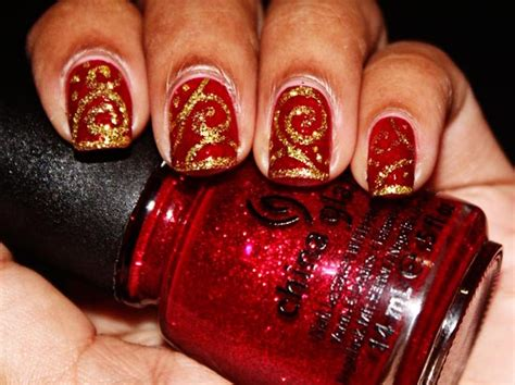 christmas decorated nails favnails