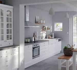 peinture gris perle pour cuisine maison design bahbecom With cuisine peinte grise
