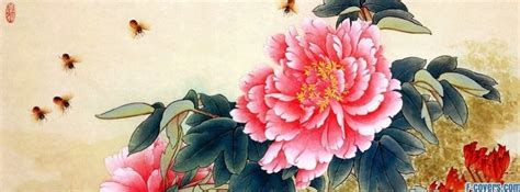 japanese art flowers facebook cover timeline photo banner