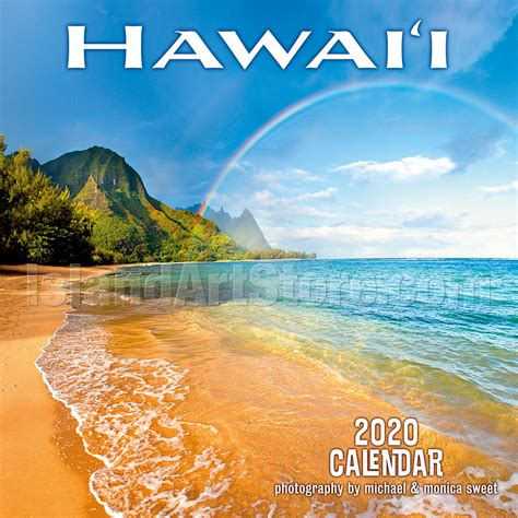 hawaii landscapes wall calendar photography