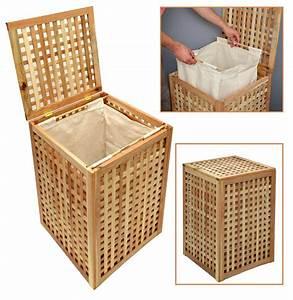 Badmöbel Holz Massiv : w schekorb w sche truhe sammler box 68 cm h he badm bel massiv walnuss holz neu ebay ~ Indierocktalk.com Haus und Dekorationen