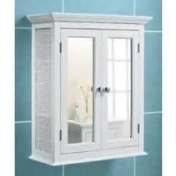 white bathroom wall cabinet rattan sides mirror doors