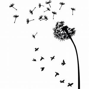 Bilder Schwarz Weiß Gemalt : pusteblume mit v gel wandtattoo ~ Eleganceandgraceweddings.com Haus und Dekorationen