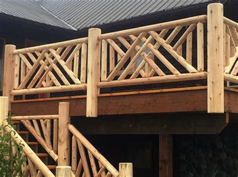 log handrail   home
