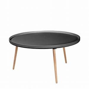 Table Ronde Grise : table basse scandinave kompass 90 by drawer ~ Teatrodelosmanantiales.com Idées de Décoration