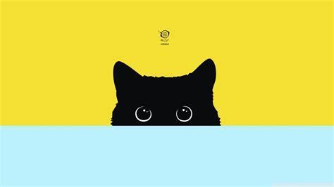 Minimalism, Digital Art, Simple, Cat, Kitty Wallpapers Hd