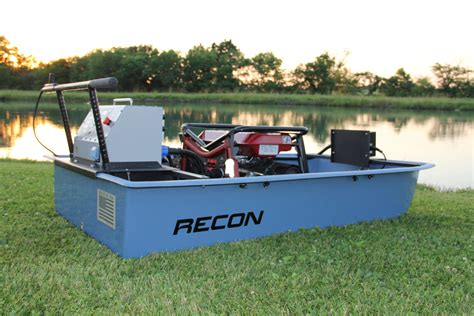 Recon Boats by Recon Mini Boat Electrofishing Tote Barge Midwest Lake