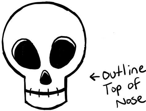 draw silly cartoon skulls  halloween easy