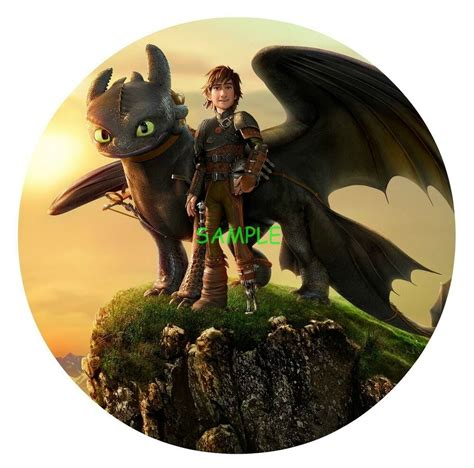 train  dragon  edible birthday cake topper