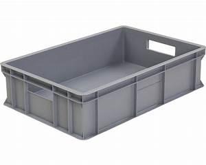 Aufbewahrungsbox 50 X 40 : stapelbox 45 l 600x200x400 mm grau bei hornbach kaufen ~ Markanthonyermac.com Haus und Dekorationen