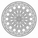Mandala Coloring Pages Mandalas Printable Circle Meditation Circles Colouring Crochet Shapes Adults Yarn Pattern Drawing Flower Adult Grown Sheets Cool sketch template