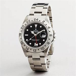 Mens Rolex Explorer II Date Stainless Steel Watch w/Black ...
