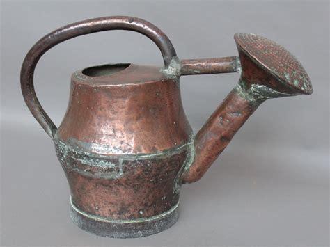 arrosoir en cuivre 224 pomme fixe d 233 but xix 176 haut 39cm r 233 parations anciennes curiosit 233 s