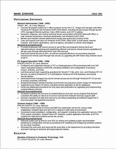 sample chronological resume With chronological resume format