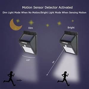 solar motion sensor lights morecoo 15 led outdoor bright With outdoor lighting with night sensor
