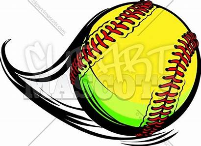 Softball Clipart Ball Laces Vector Lines Movement