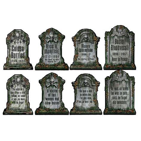 halloween cemetery graveyard tombstone diecut cutouts