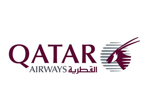china white wall qatar airways logo logotype logok