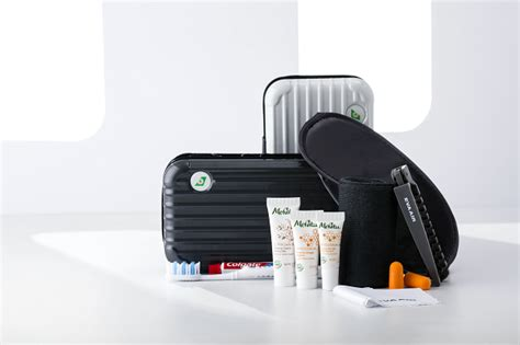 eva air introduces  rimowa amenity kit  royal laurel