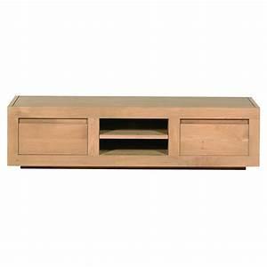 Meuble Tv En Chene Massif : meuble tv ch ne massif flat 2 tiroirs ethnicraft mise ~ Teatrodelosmanantiales.com Idées de Décoration