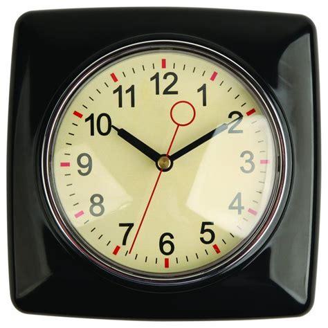 kikkerland retro kitchen wall clock black modern wall