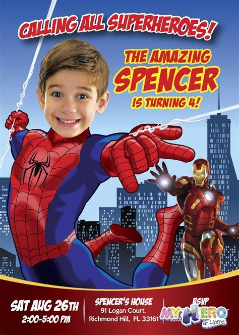 spiderman invitation en  invitacion de spiderman