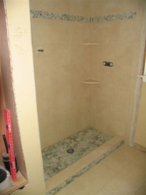 stand up shower tile bathroom tile