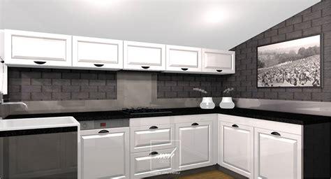 repeindre sa cuisine en noir rénovation cuisine à lésigny mh deco