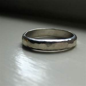 mens wedding ring of hammered sterling from tinahdeecom With hammered mens wedding ring