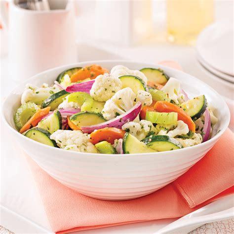 chou cuisine salade de chou fleur carottes et courgettes marinées
