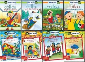 caillou dvd set pbs lot series tv show children animated boy r ebay