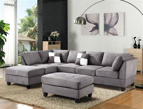 microfiber sectional sofas gray microfiber sectional sofa great grey microfiber