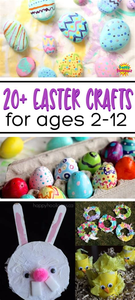 easy easter crafts  kids   ages happy hooligans