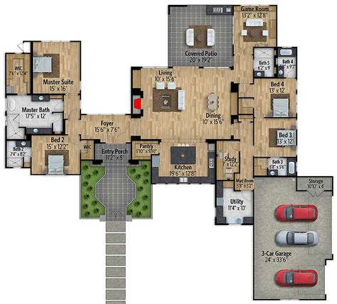 story european house plan  game room ly