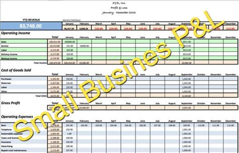 small business incomeexpense tracker monthly budget  cash