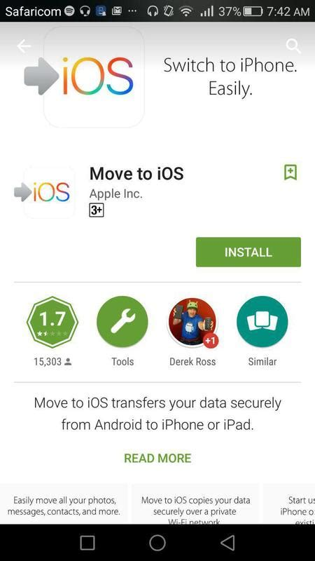 apple releases move to ios app for android android fanboys troop to the play to trash apple s