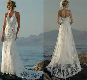 halter v neck open back casual beach wedding dresses 2015 With sexy casual wedding dresses