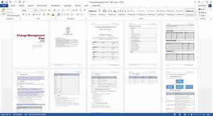 Change management plan download ms word excel templates for Change management communication template