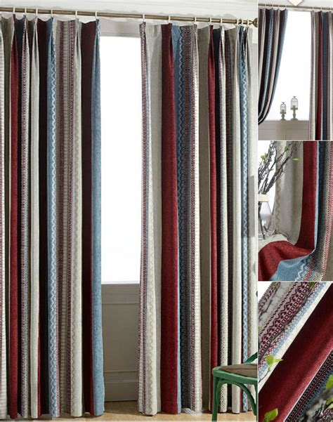 multi color curtains top chenille multi color striped curtains