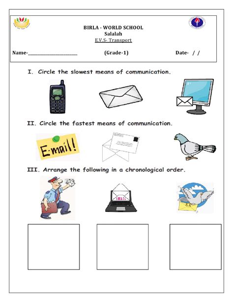 transportation worksheets grade 1 elmifermetures
